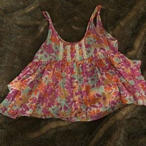 Free People Floral Crop Top